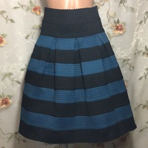 ✨Anthropologie Girls from Savoy Striped Skirt~M/L